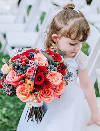 wedding flower bouquet - flower girl